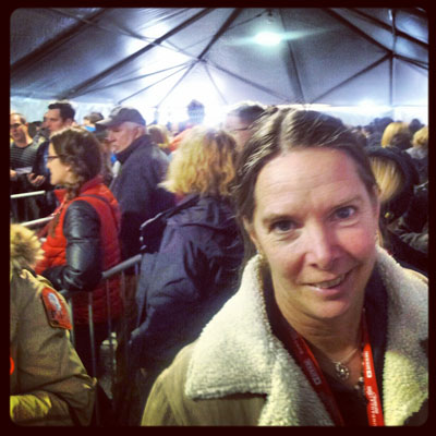 Waiting in line for one of the many venues during Sundance Film Festival