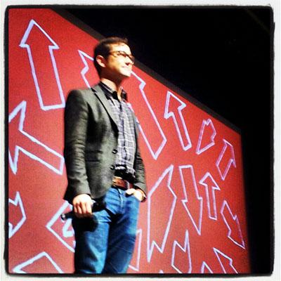 Director, writer and actor Joseph Gordon-Levitt present the comedy Don Jon's Addiction