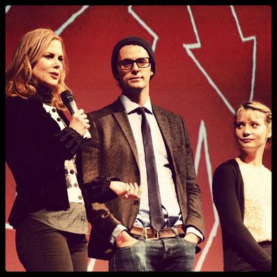 The main cast of the movie Stoker; Nicole Kidman, Matthew Goode and Mia Wasikowska