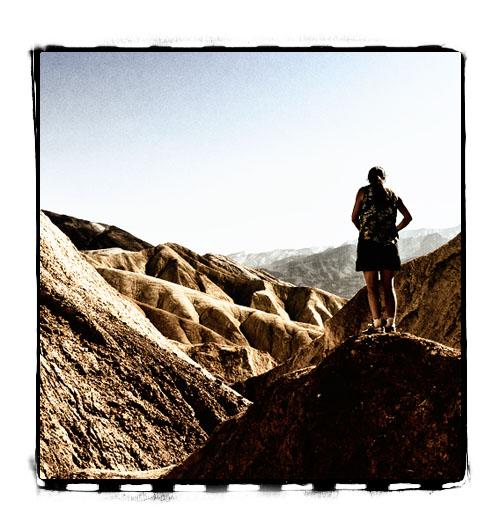 Gjennom den lille og trange Golden Canyon