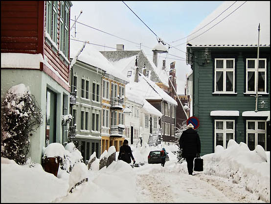 Nygårdshøyden etter en kraftig snøfall