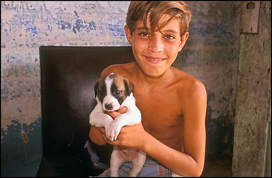 I hjemmet til en gutt og hans hund