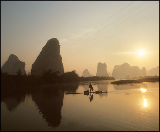 Morgenstemning langs elven Li