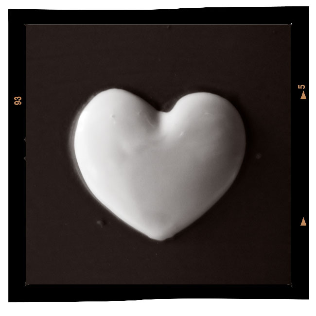 Hjerte i rødt