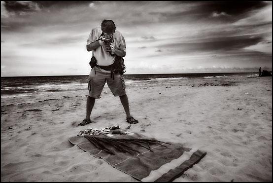 Sven fotograferer på Playa del Este