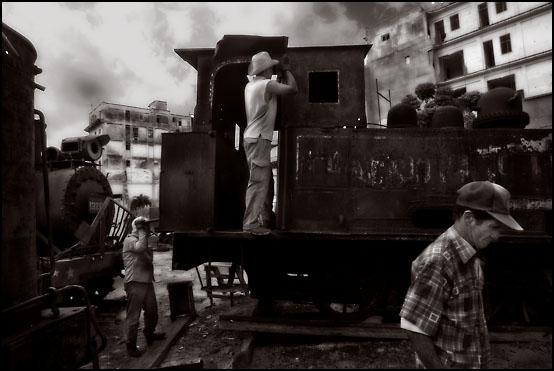 Gamle damplokomotiver samles fra hele landet og restaureres