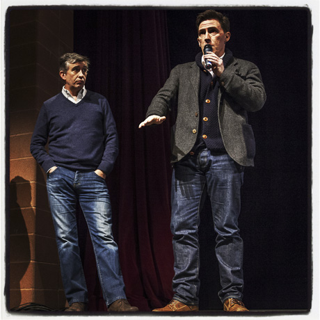 The British comedians Steve Coogan and Rob Brydon presents their new film The Trip to Italy