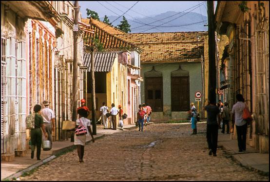De trange gatene i den gamle bydelen