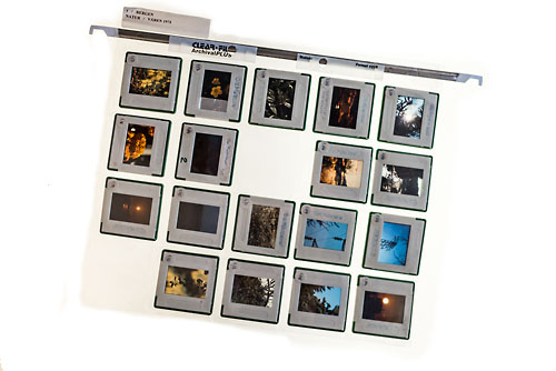 My first sheet of slide films.