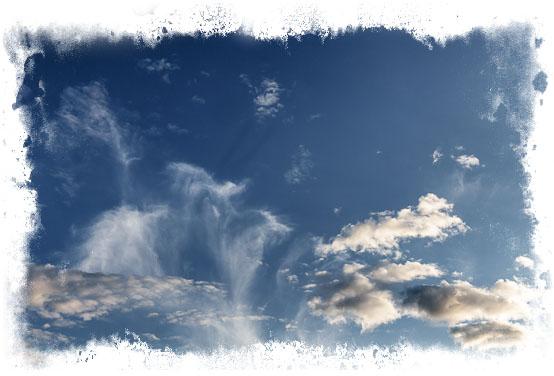 Vakre skyer på himmelen