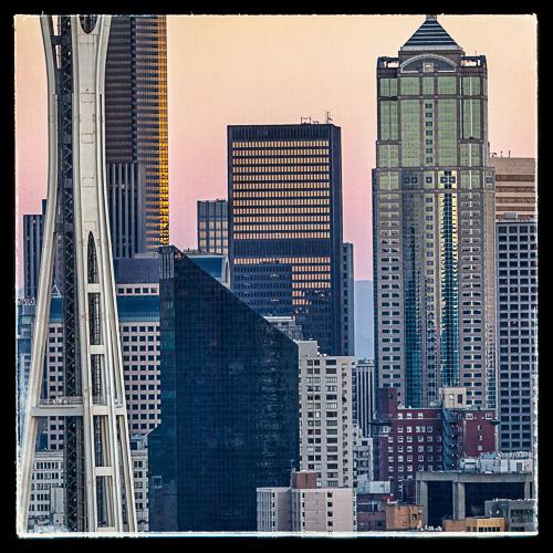Seattle skyline sett fra Queen Anne-området