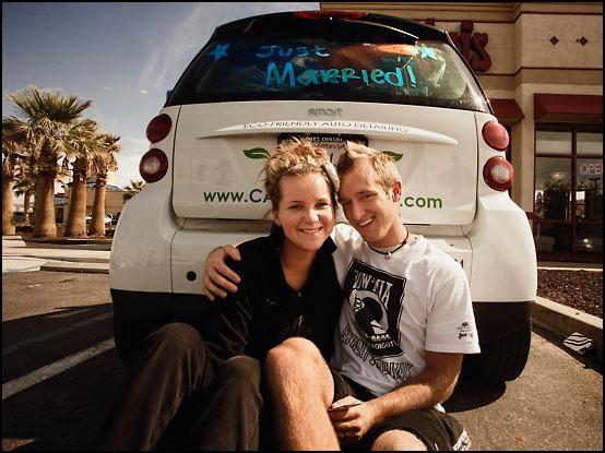 Bryce (22) og Olivia Undhardt (20) på bryllupsreise til California