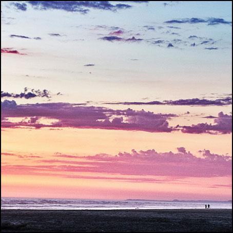 Solen går ned i Stillhavet