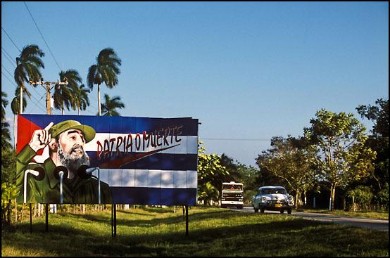 Politisk propaganda i nærheten av Camagüey