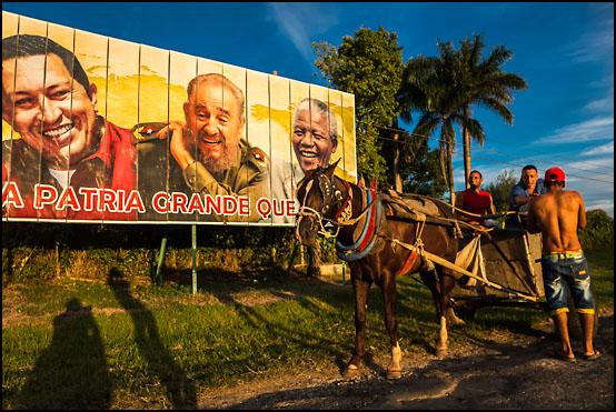 Propaganda ved innkjøringen til Cienfuegos