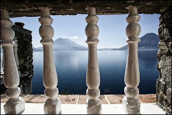 Utsikten fra det hyggelige hotellet Casa del Mundo
