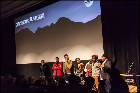 The movie Crown Heights being presented at Sundance Film Festival with both the cast and Colin Warner himself (with family), who wrongfully served 21 years in prison in USA