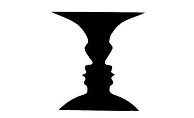 En klassisk illusjon som ofte brukes i psykologi-bøker